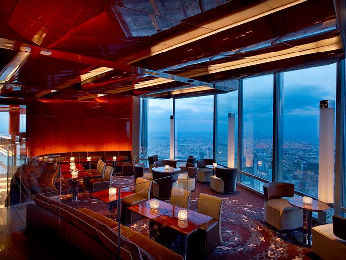 el restaurante mas alto del mundo en dubai