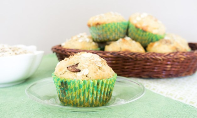 Muffins de avena y doble chocolate