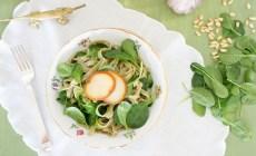 receta de fetuccini provolone y espinaca en maria orsini