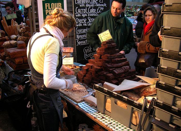 borough market en londres, mercado famoso