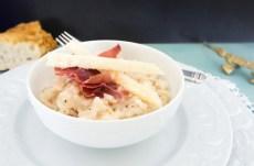 Receta de risotto de jamón serrano y queso parmesano