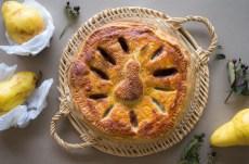 Receta de Pie de pera con pasta hojaldrada