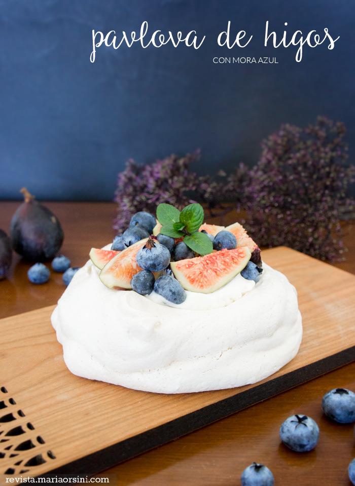 pavlova, merengue con higos
