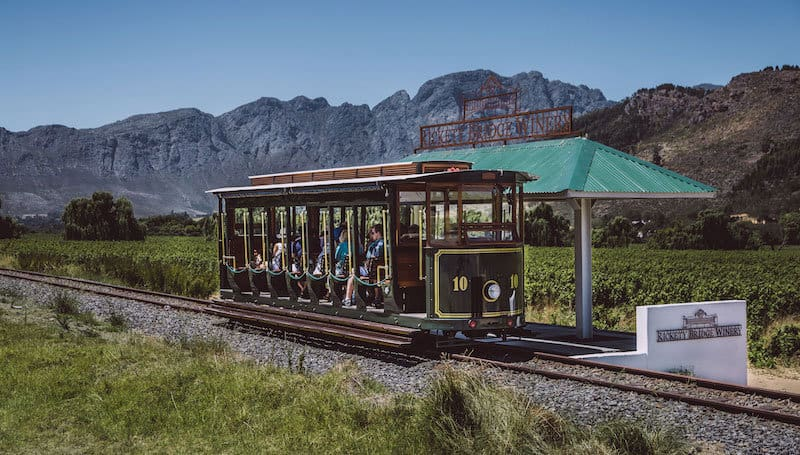 trenes de vino, sudafrica