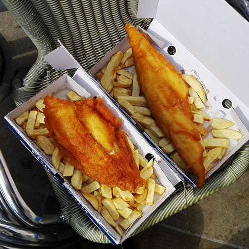 street food o comida callejera de mariscos y pescados