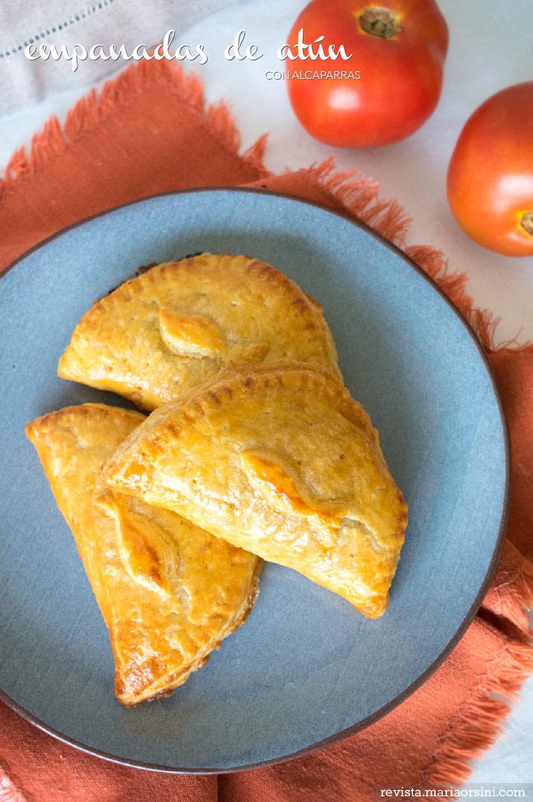 Deliciosas empanadas de atún con alcaparras, receta de revista Maria Orsini