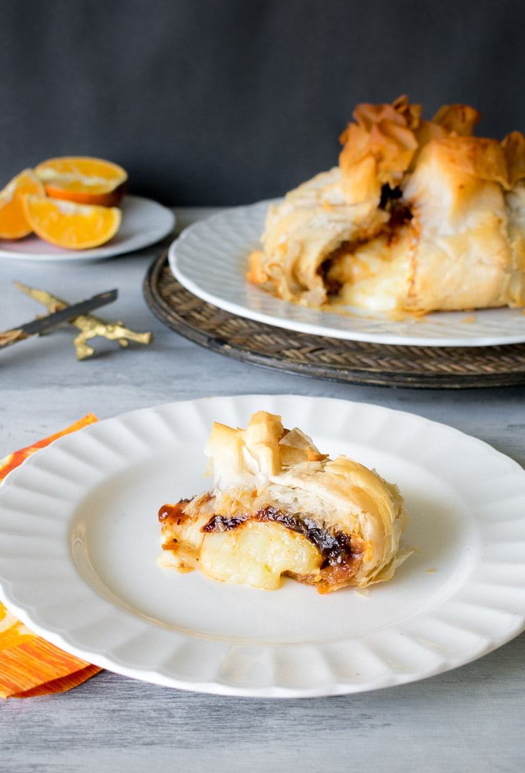 Receta de queso brie al horno con mermelada picante de naranja en revista Maria Orsini