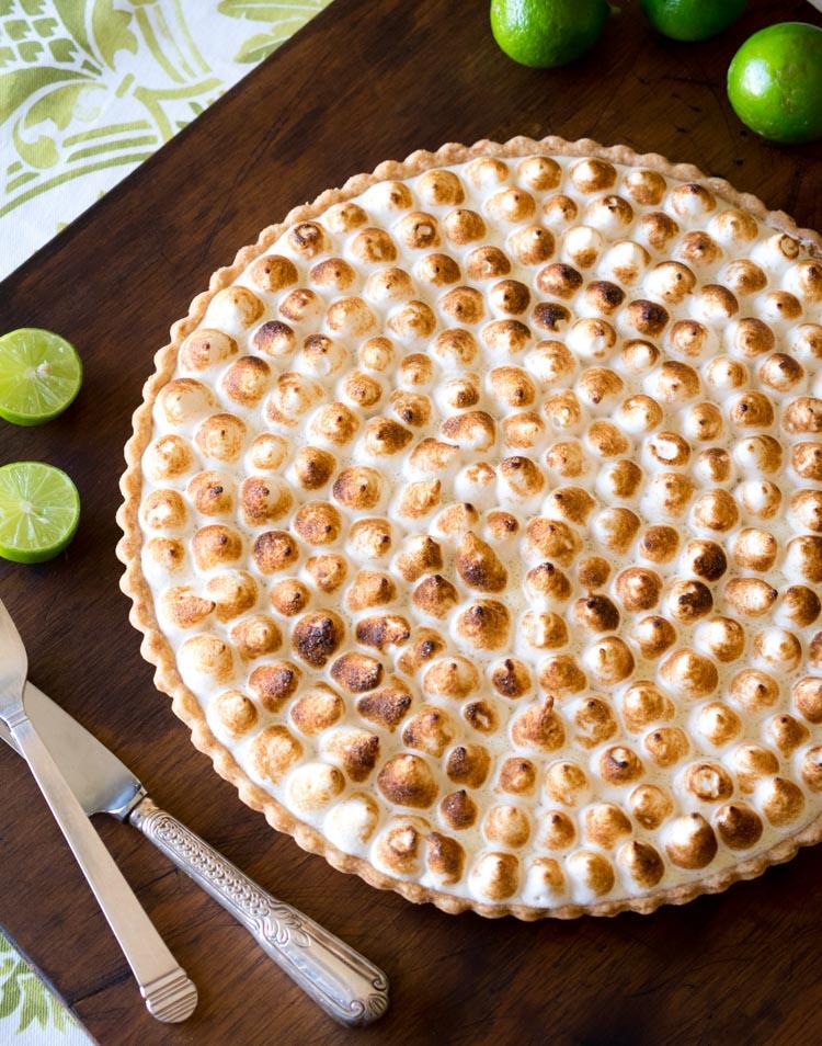 Receta de tarta de limón con merengue italiano en maria orsini