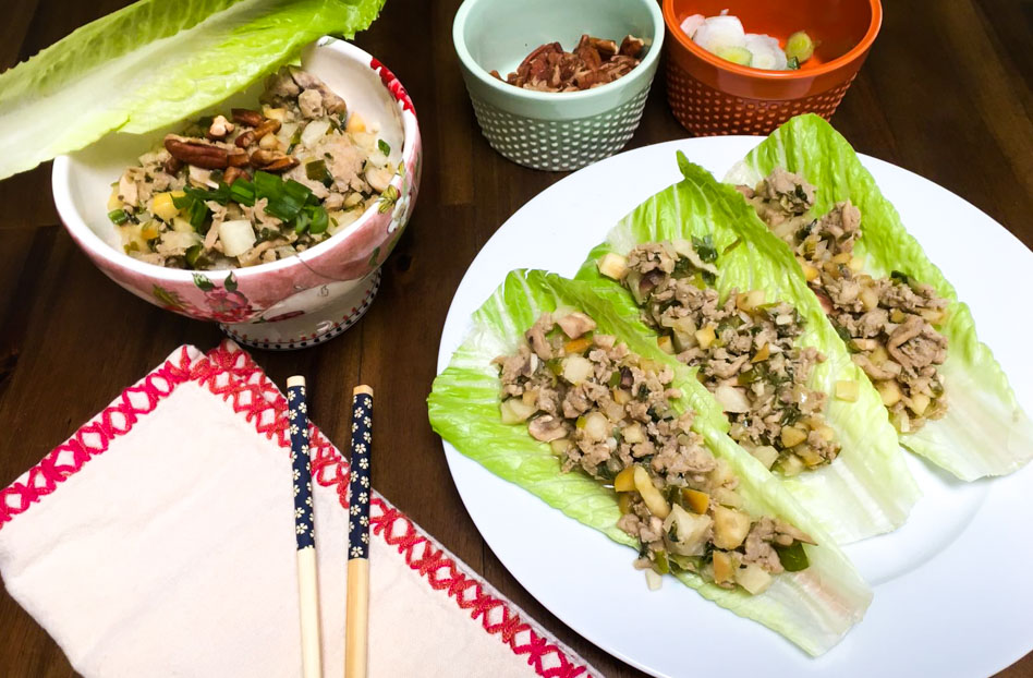 Tacos de lechuga saludables, receta en Maria Orsini