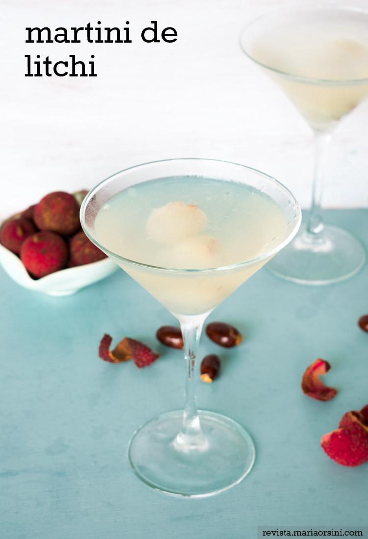 Receta de martini de litchi en revista Maria Orsini