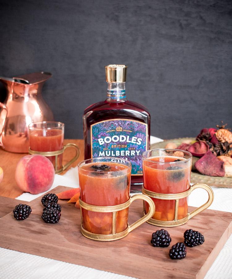 Ponche con gin Boodles Mulberry | Receta en Maria Orsini