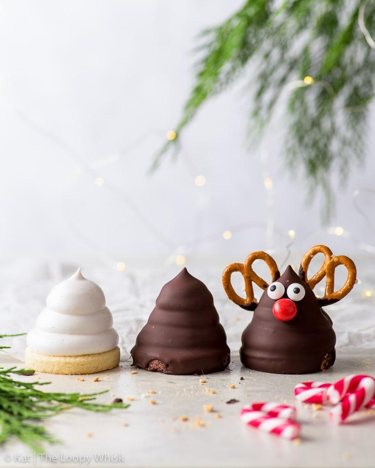 postres navideños, galletas de reno