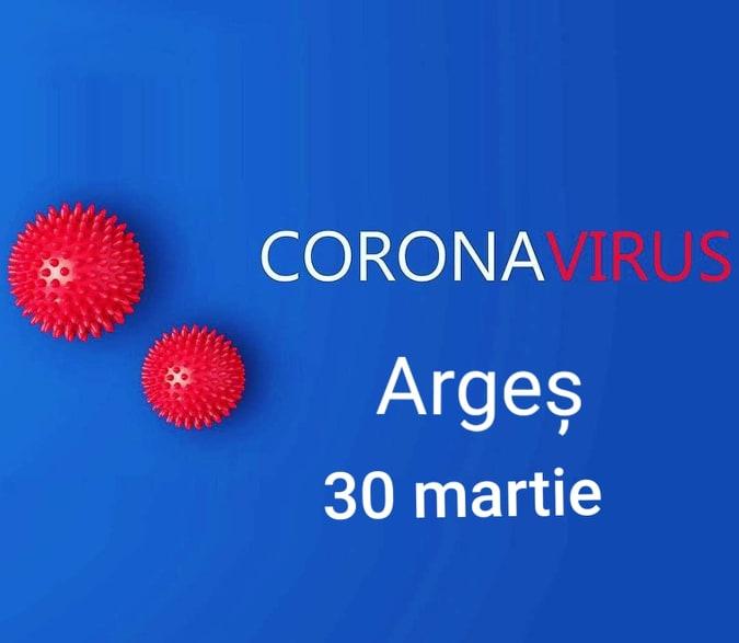 Situația Covid - 19 în Argeș la 30 martie 1