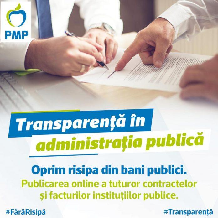 PMP vrea transparență în instituțiile statului român 1
