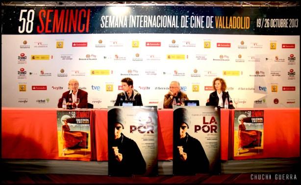 Rueda de prensa con los integrantes de la película La por.