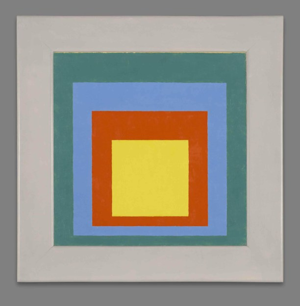 Homenaje al cuadado, 1950 Josef Albers Óleo sobre Masonite, 52,4 x 52 cm. © Yale University Art Gallery, New Haven, USA