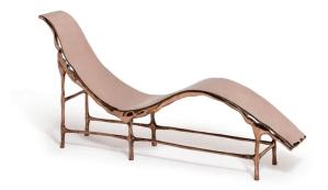 Bronse age chaise longue, por el diseñador Frank Tjepkema, de la firma alemana Tjep, en el Maison & Objet Americas, 2015.