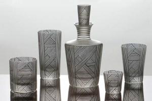 Colección de cristalería por la diseñadora Natalia Ogneva de Artel, en el Maison & Objet Americas 2015.