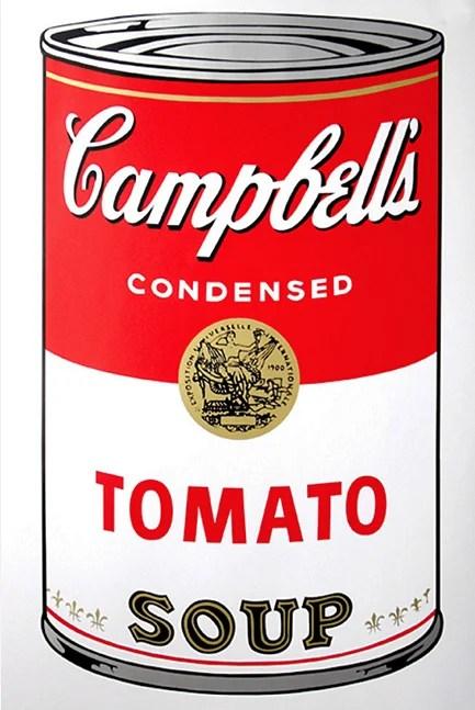 Campbell Soup Tomato, Plancha de 1968 Técnica: Serigrafía Dimensión: 89 cm x 59 cm. Disponible en la tienda de Boconcpet de la Avenida 19 No. 104-79 en Bogotá.
