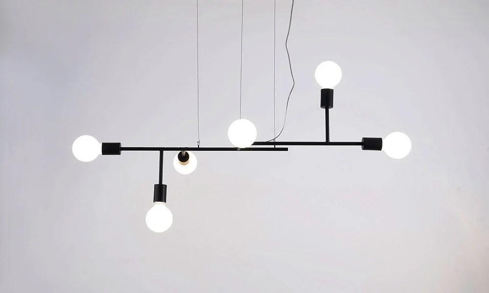 Lámpara de techo Xadrez 3D de la diseñadora Cristiana Bertolucci.