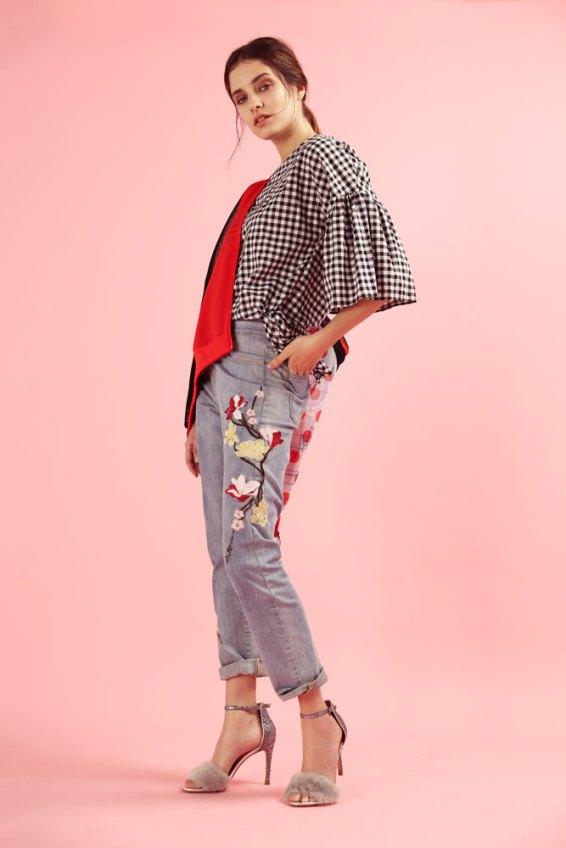Blusa vichy - Basement Campera de red - Adidas Jean bordado - Portsaid Sandalias con piel – Aldo