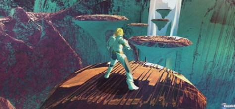 Figura 1. Un moderno Henoc con armadura y pantalones vaqueros en el Cielo