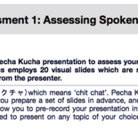 Improving online language assessment: Using Pecha Kucha to assess spoken production in English