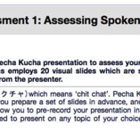 Improving online language assessment: Using Pecha Kucha to assess spoken production in English