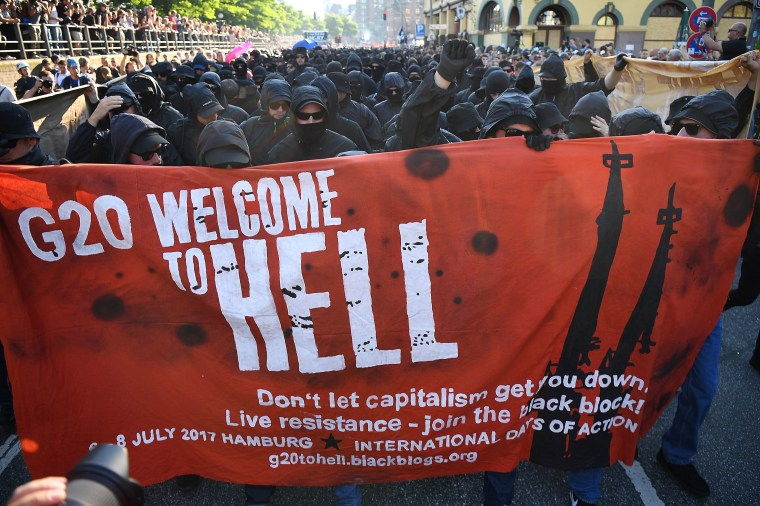 Protesters March During The G20 Summit
