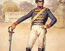 Um policial militar do século 19