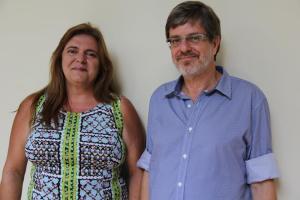 Foto usada na campanha. Leher e Denise Nascimento