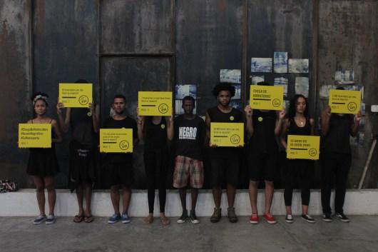 Em placas, os dados de assassinato da juventude negra no país - Foto: Washington Santana