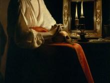 Georges de La Tour: Madalena penitente; pintura a óleo sobre tela; dimensões: 133,4 cm × 102,2 cm