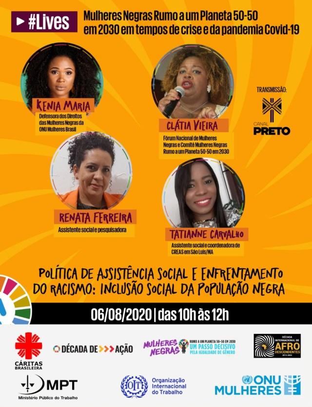A ONU e a sociedade civil realizam uma série de eventos online sobre as mulheres negras rumo a um planeta igualitário (50-50) em tempos de crise e de pandemia de COVID-19.