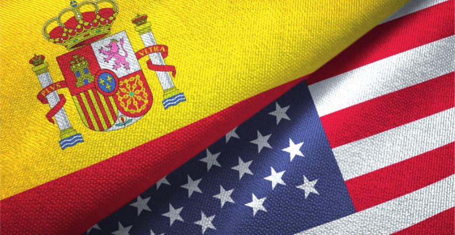 Banderas de España y EEUU