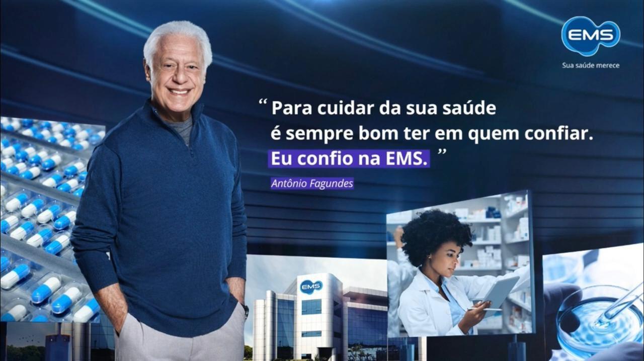 EMS lança campanha com Antônio Fagundes
