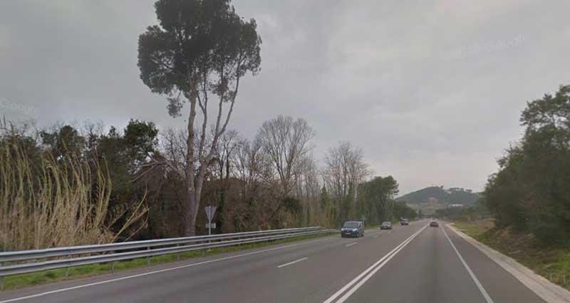 La N-II a su paso por el kilómetro 686