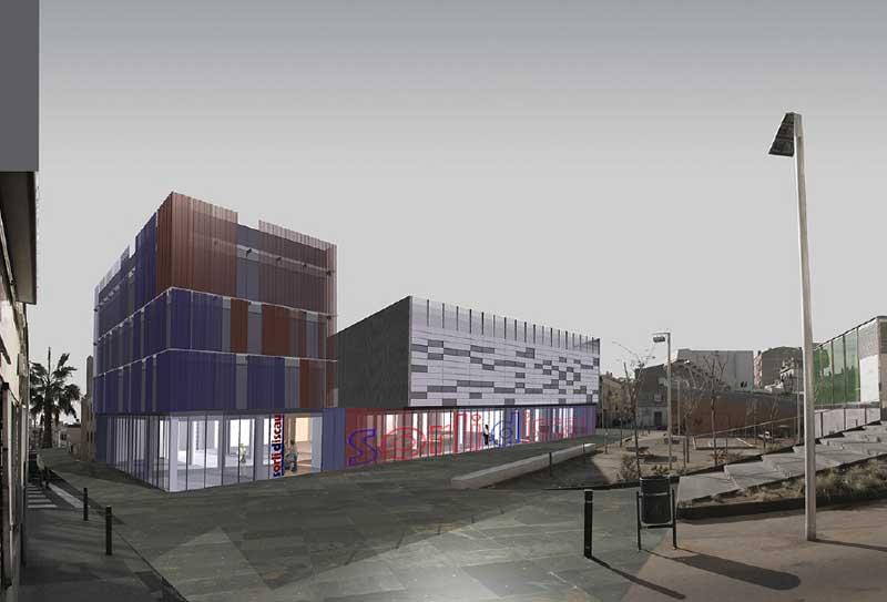 Imagen virtual de como será el centro comercial de Ca l'Escoda