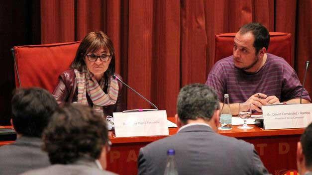 Marta Pujol, durante la comparecencia en el Parlament en la investigación sobre corrupción