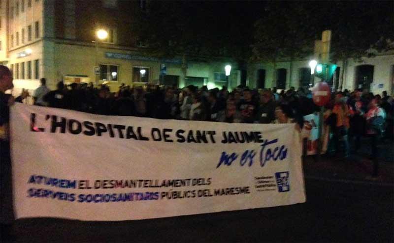 Más de 500 personas se manifestaron el sábado en defensa de la sanidad pública