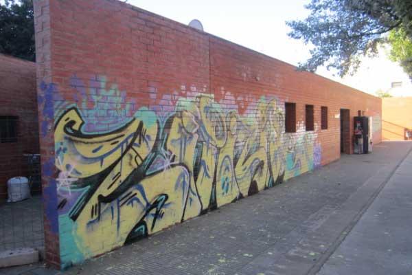 Algunas de las pintadas realizadas en el municipio