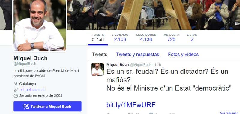 El tuit del alcalde de Premià de Mar