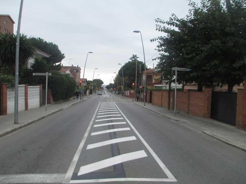Vista parcial de la carretera de Premià a Vilassar de Dalt