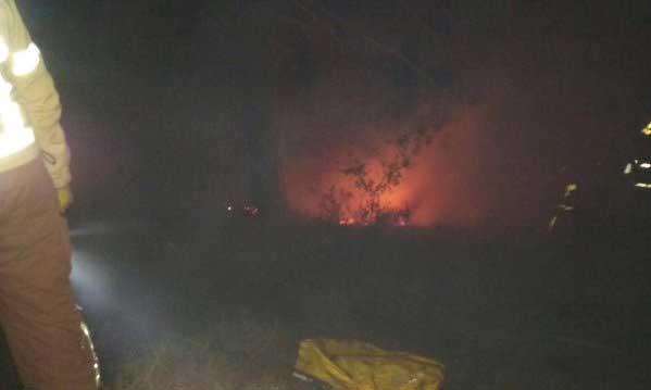 Imagen del incendio que afectó la zona de Pedra Seca. Foto: @Vilassardededalt