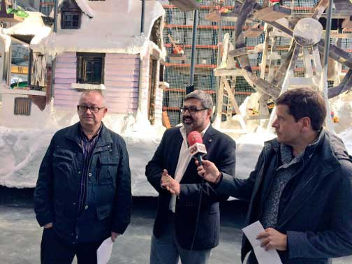 Antoni Blanch, Joaquim Fernàndez i Espartac Peran, durante la presentación. Foto: AJ. de Mataró