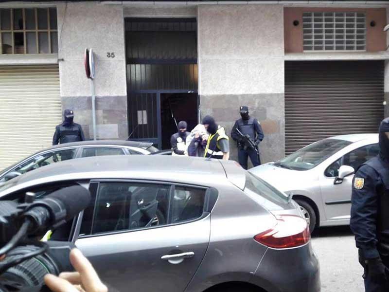La Policia Nacional ha capturado un hombre en Mataró. Foto: Salva Caballero