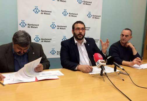El alcalde y los regidores presentaron el presupuesto 2016. Foto: Ajt. de Mataró