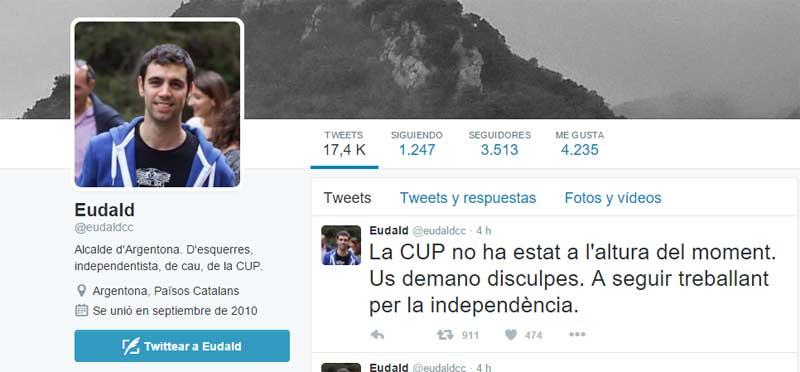 El tuit del alcalde de Argentona