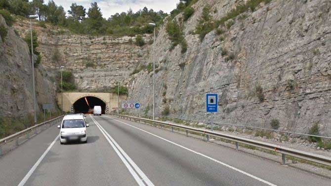El tunel de Bogunyà, en la C-55