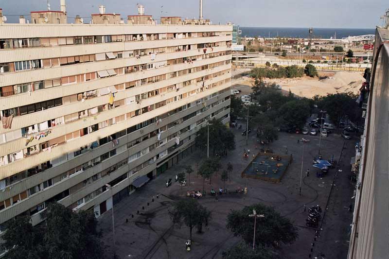 Aspecto parcial del barrio de la Mina, en Sant Adrià del Besòs